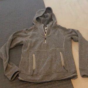 North Face hoodie.
